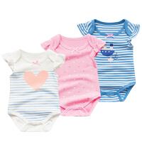 婴儿连体衣服宝宝新生儿季外出服01岁5个月款无袖三角哈衣