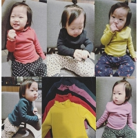 女童婴幼儿加绒打底衫17冬季保暖加厚款半高领儿童不倒绒宝宝上衣