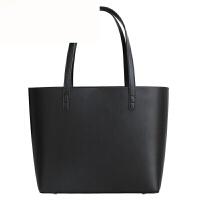 包包女2018新款时尚真皮女包手提包大容量托特包单肩包大包 黑色 真皮托特包