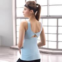 运动背心女速干透气长款带文胸女士跑步 健身训练运动式BRA瑜伽运动背心 防震瑜珈服跑步服