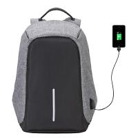 防盗双肩背包带手机充电孔15寸17寸大容量电脑笔记本包飞行堡垒