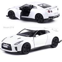 金属仿真奔驰G63大众甲壳虫GTR35合金小汽车模型男孩玩具车礼物 NIAN GTR35