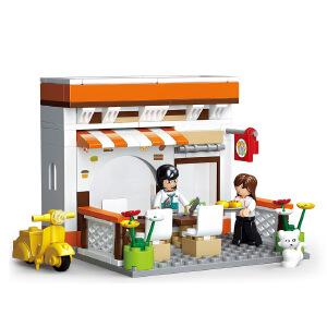 【当当自营】小鲁班模拟城市系列儿童益智拼装积木玩具 休闲餐吧M38-B0567