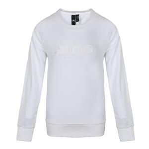 adidas阿迪达斯2018新款女子长袖圆领上衣针织套衫卫衣DI0122