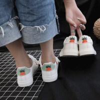 韩版百搭基础休闲板鞋平底学生白鞋皮面透气小白鞋女