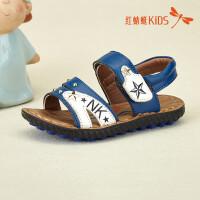 红蜻蜓童鞋新款沙滩鞋舒适时尚魔术贴百搭男童儿童凉鞋511F62317X