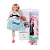 乐吉儿芭比娃娃礼盒玩具 梦幻系列 梦幻衣柜女孩过家家玩具 六一儿童节礼物 H26A