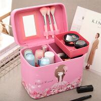 大容量化妆包便携手提化妆箱大号化妆品收纳盒旅行小方包收纳包女 大号公主女孩带内盒