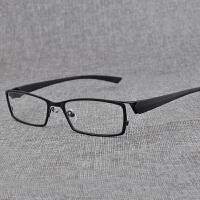 眼镜 男士平光镜 方形个性金属全框近视眼镜框架