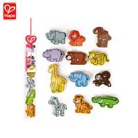 Hape立体野生动物1-6岁儿童益智早教积木玩具婴幼玩具木制玩具E0903