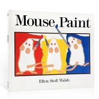 英文原版绘本 Mouse Paint 老鼠作画 Ellen Stoll Walsh 三只老鼠系列  廖彩杏推荐韵文与歌谣 建立快乐回忆英文原版绘本