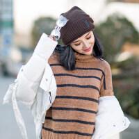 毛线帽子女时尚潮韩版时尚保暖休闲百搭女士针织帽