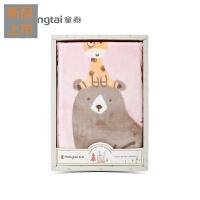 云毯毛毯婴儿礼盒宝宝春秋冬满月百日礼品双面细腻童毯定制