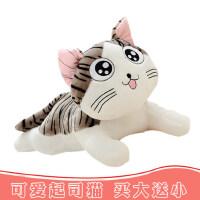 韩国萌起司猫公仔睡觉抱枕小猫咪毛绒玩具生日礼物布娃娃送女友