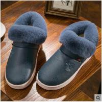 男士高帮棉拖鞋男冬季新款包跟厚底室内防滑毛绒保暖冬天棉鞋外穿