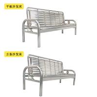 不锈钢沙发床两用多功能可折叠米床三人座椅简易折叠沙发床 201#方条 广东省专区 2米以上