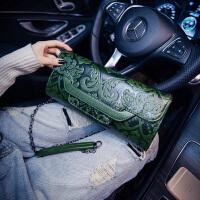 女士包袋休闲手提包磁扣中国风全新手拿单肩包斜挎包