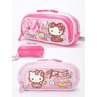 新KT凯蒂猫儿童中小学生女童多层笔袋大容量文具袋可爱蝴蝶结笔盒