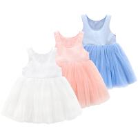 蓓莱乐婴童装女宝宝连衣裙夏装背心夏季1岁仙女婴幼儿裙子公主裙