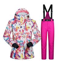新款冬季滑雪服女套装韩国单双板防水防寒蓄热大码加厚零下30度新品