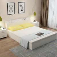 【满减优惠】床现代简约板式床榻榻米床1.51.2米1.8米双人床高箱储物床收纳床
