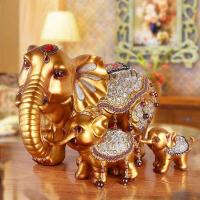欧式家居酒柜装饰品招财大象房间客厅玄关电视柜摆件创意结婚礼物