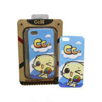 可爱 CC猫 iPhone5 专用 手机壳 (蓝色)