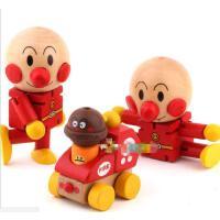 儿童益智玩具 宝宝木偶 百变卡通面包超人公仔 木制关节玩偶人偶