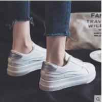 新款小白鞋女帆布鞋韩版百搭学生原宿ulzzang板鞋厚底ins