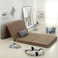 定做加厚高密度海绵床垫可折叠榻榻米地铺单人午睡垫子办公室便携