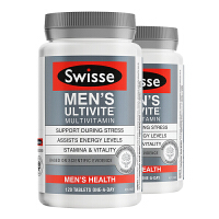 澳洲直邮/保税区发货 Swisse/瑞思 男士复合维生素维持男士能量缓解压力 120粒*2瓶 海外购