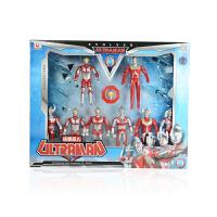 锐视 8个小奥特曼+2战机 咸蛋超人  儿童小孩礼物玩具模型1117201-03组合*