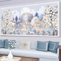 十字绣鹿满钻5d点贴钻砖石水晶粘贴砖石钻石画新款客厅