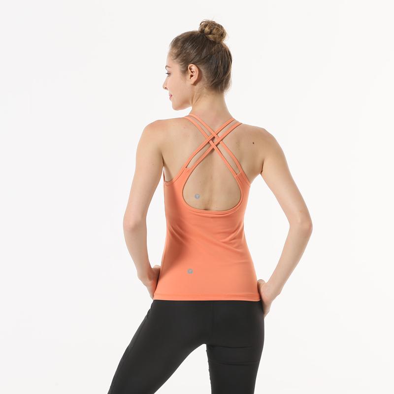 瑜伽服双线美背瑜伽背心吊带含胸垫弹力修身运动健身服紧身衣 发货周期:一般在付款后2-90天左右发货,具体发货时间请以与客服协商的时间为准