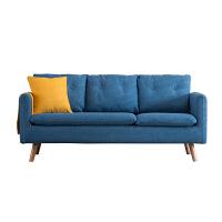 小户型现代简约单人双人三人沙发客厅可拆洗北欧服装店布艺沙发