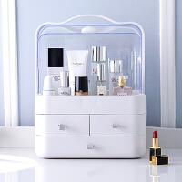 化妆品收纳盒 抽屉式化妆品防尘收纳盒大号手提透明桌面整理护肤品置物架