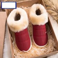 男士居家用保暖鞋女室内高包跟防滑拖鞋 韩版加绒保暖棉拖鞋女情侣毛绒鞋子
