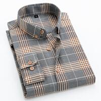 春秋男士格子衬衫长袖韩版帅气潮流青少年衬衣衬衫