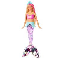 芭比 Barbie 电动声光美人鱼娃娃 半透明鱼尾童话气氛 GFL82