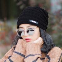 帽子女韩版潮百搭加厚户外针织保暖女士毛线帽