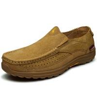 新品 男鞋秋季休闲鞋牛筋底中年皮鞋透气软底防滑爸爸鞋防滑健步鞋