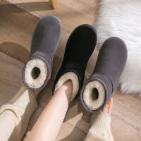 雪地靴女时尚厚底加绒鞋子2019新款冬季雪地棉一脚蹬秋冬百搭棉鞋