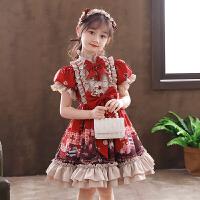 女童连衣裙夏季短袖儿童洛丽塔公主裙子春秋萝莉塔