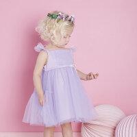davebella戴维贝拉女童宝宝夏装新款公主吊带连衣裙