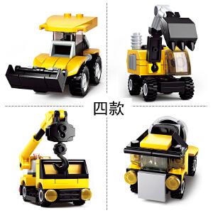 【当当自营】小鲁班创意N变系列儿童益智拼装积木玩具 工程组4款装M38-B0592