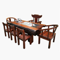 古典功夫茶几桌船木茶台龙骨茶几老船木茶艺桌椅组合实木大板家具
