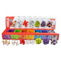 孔明锁早教解锁玩具礼包 解锁过关七合一套装礼盒