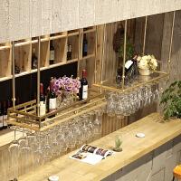 红酒杯架倒挂家用金色酒吧台红酒架摆件创意高脚杯架悬挂式置物架