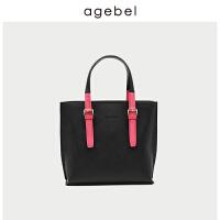 [1件2折]艾吉贝牛皮托特包女2019新款时尚欧美单肩大容量大包手袋手提包包