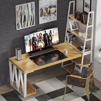 纯实木书桌书架组合 转角电脑桌书桌书架一体 省空间家用卧室